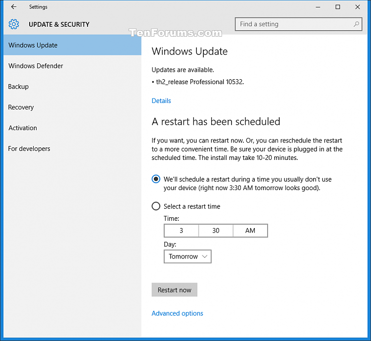 Announcing Windows 10 Insider Preview Build 10532 for PC-restart.png