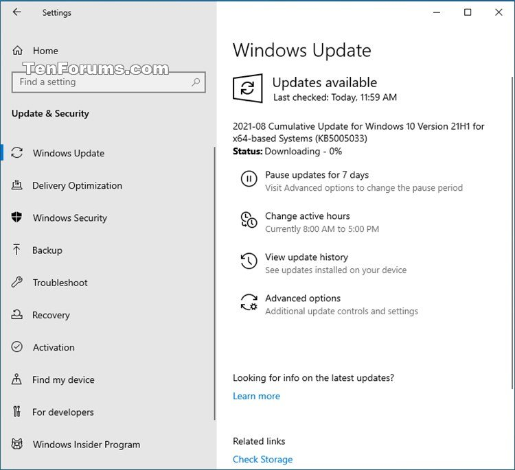 KB5005033 Windows 10 2004 19041.1165, 20H2 19042.1165, 21H1 19043.1165-kb5005033.jpg