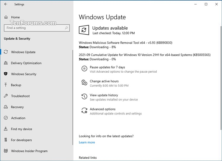 KB5005565 Windows 10 2004 19041.1237, 20H2 19042.1237, 21H1 19043.1237-kb5005565.jpg