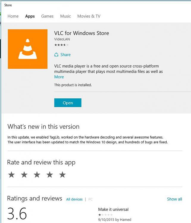 Click image for larger version.  Name:VLC For Windows Store 1.jpg Views:6 Size:63.0 KB ID:37153