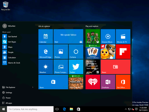 Windows Insider Preview 10568 is in the wild Insider