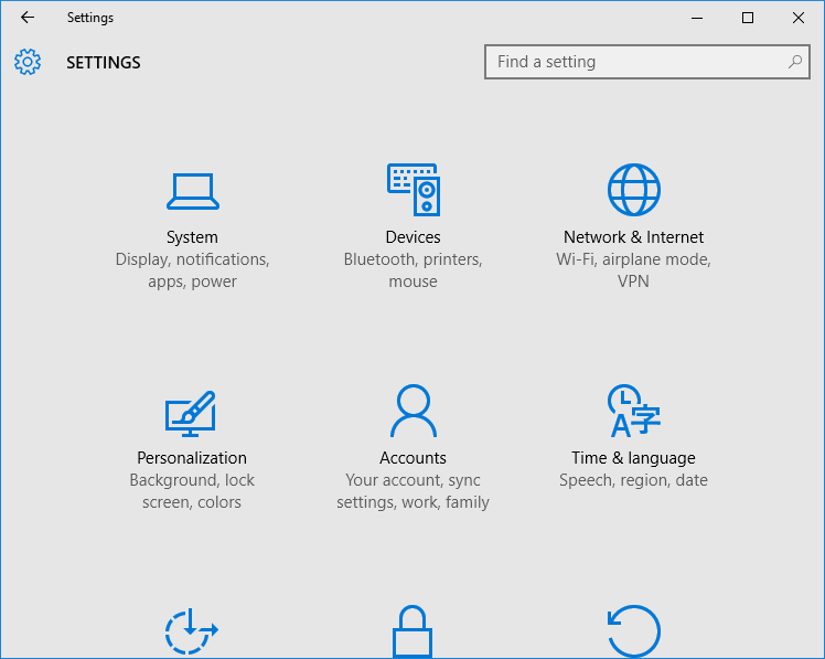 The old Control panel may soon be gone-settings-app-not-opening-windows-10.png