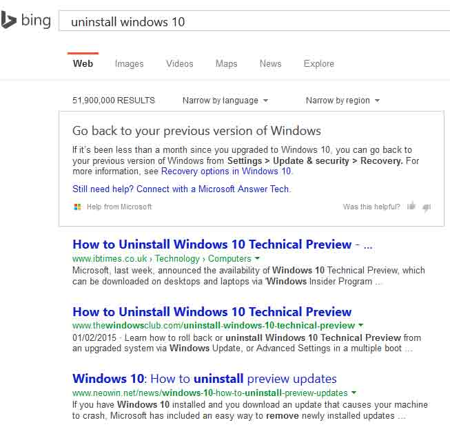 Microsoft to force Windows 10 on users with automatic updates from 201-bingsearch.jpg