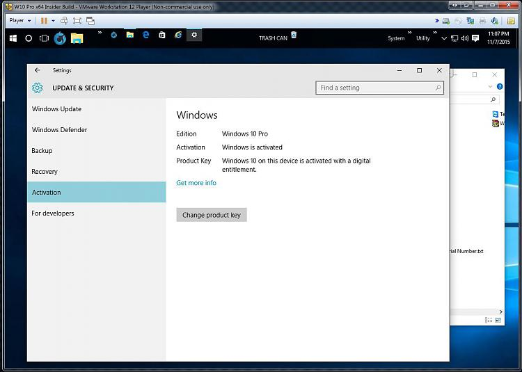 Click image for larger version.  Name:Activating W10 on a VM 3 Activation Confirmed.jpg Views:6 Size:90.1 KB ID:46869