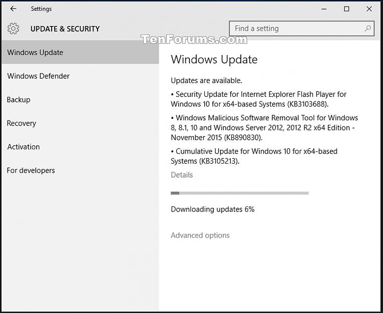 Windows 10 Cumulative Update KB3105213 November 10th.-kb3105213.png