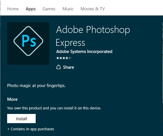 Click image for larger version.  Name:Windows Store ..... adobe photoshop express.jpg Views:67 Size:86.3 KB ID:64270
