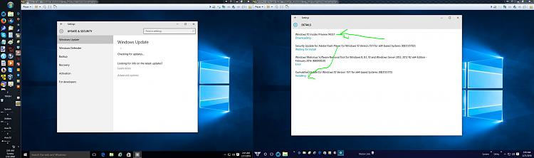 Click image for larger version.  Name:W10 VM Two Pro VMs One Downloading 14267.jpg Views:3 Size:204.1 KB ID:65384