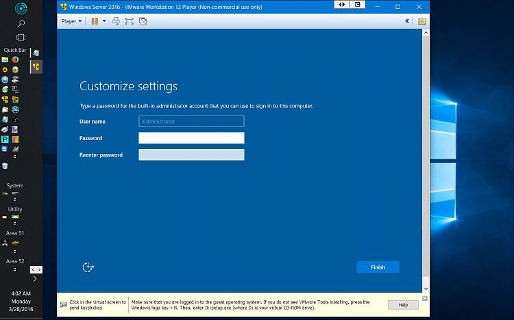 Click image for larger version.  Name:Server 2016 Install 10 Admin Password.jpg Views:1 Size:107.4 KB ID:72183