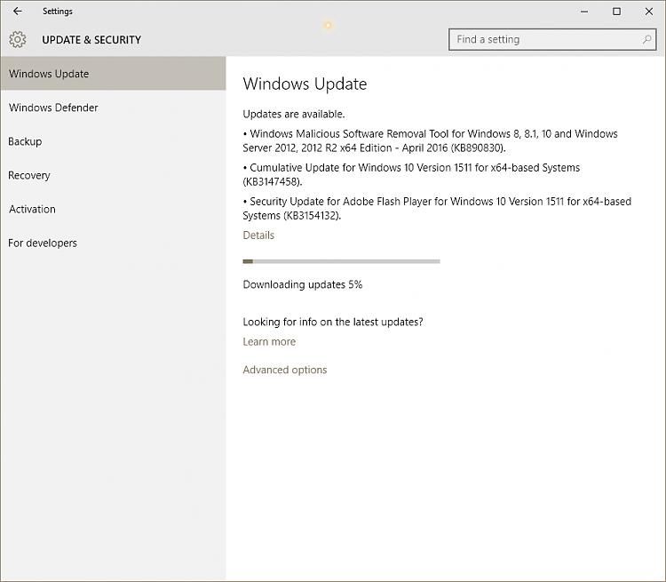 KB3147458 Cumulative Update build 10586.21 for Windows 10 Version 1511-image-001.png