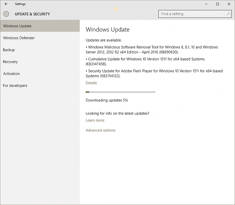KB3147458 Cumulative Update build 10586.21 for Windows 10 Version 1511-image-001.png