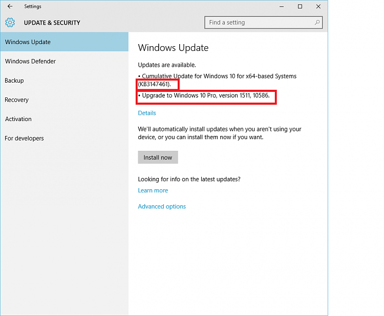 Windows 10 build 10240 cumulative update kb3147461 windows 10 click image for larger version name updateg views 5 size ccuart Choice Image