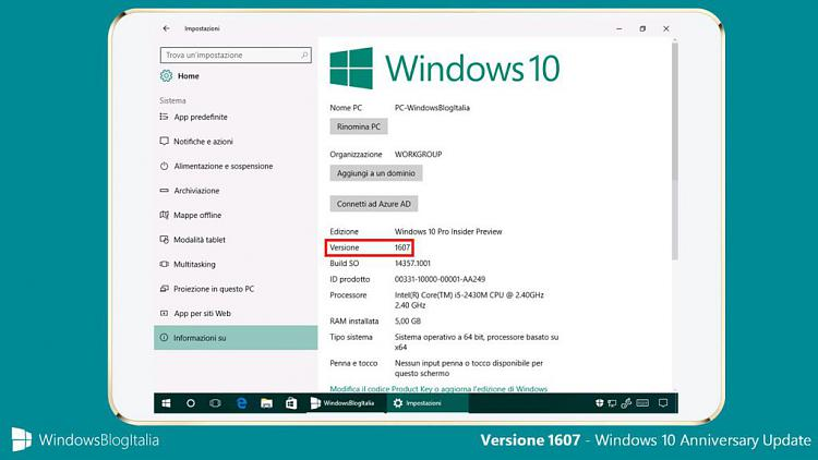 windows 10 version 1607 patch