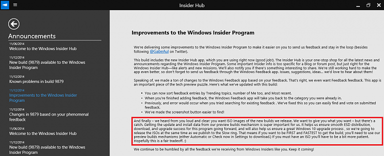 New Windows 10 Preview build 9879 available-hub.png