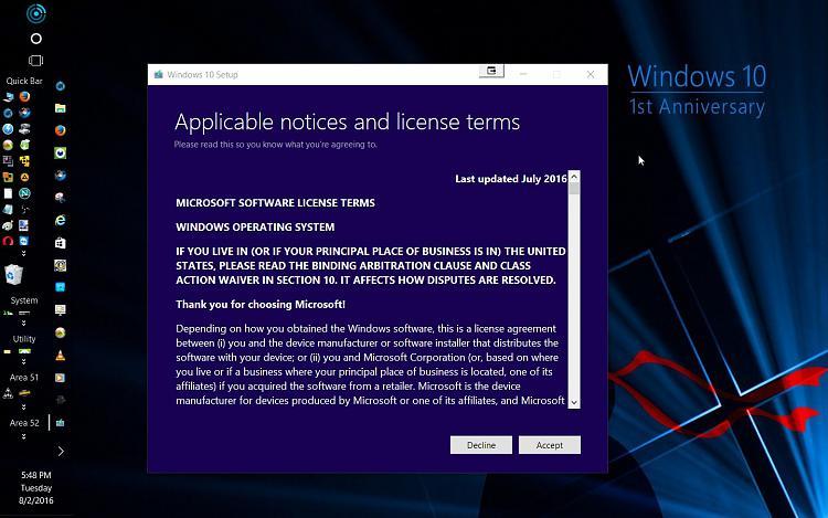 How to get the Windows 10 Anniversary Update-1st-anniversary-build-mounted-running-setup.jpg