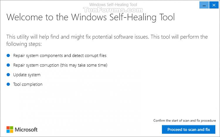 Windows 10 Anniversary Update freezing: Microsoft offers temporary fix-windowsselfhealingtool.png