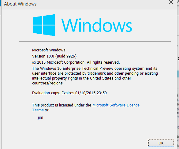 Winver on Build 9926 Expiry now shows as OCT 1st 2015-win10.png