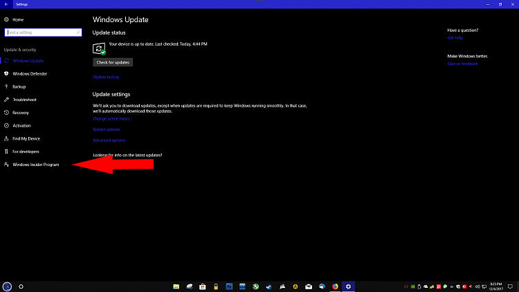 How to update to insider build 17025-1.png