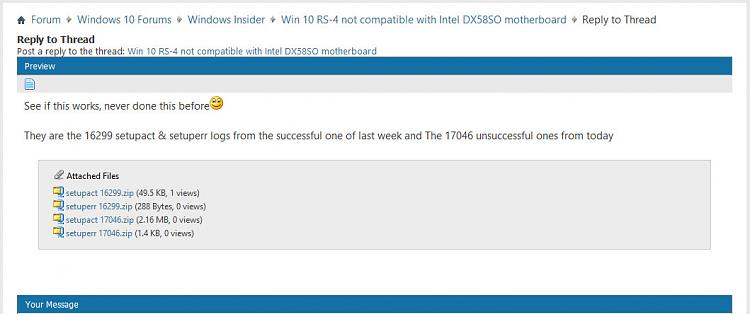 Win 10 RS-4 not compatible with Intel DX58SO motherboard