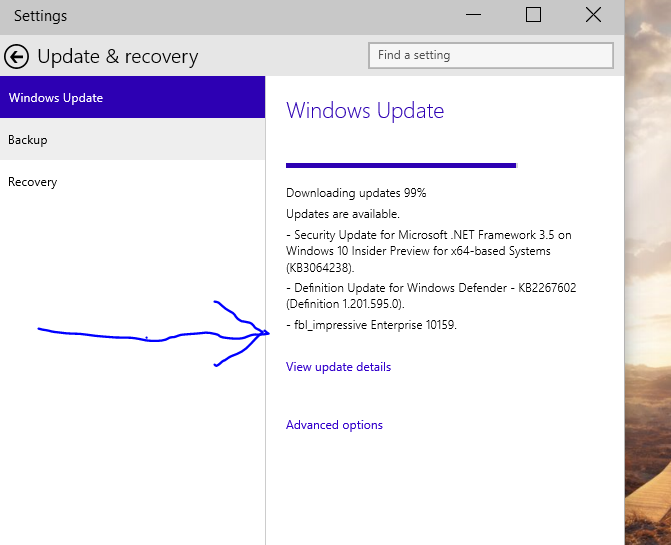 Strange --Build 10159 available FROM BUILD 9926 !!!!!-build10159.png