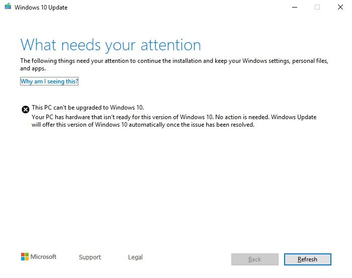 Can't upgrade to v1903 from v1809 Solved - Windows 10 Forums