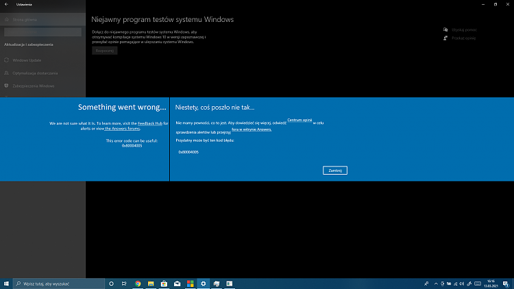 Error Code: 0x80004005, when trying to join Windows Insider-error-code-0x80004005.png