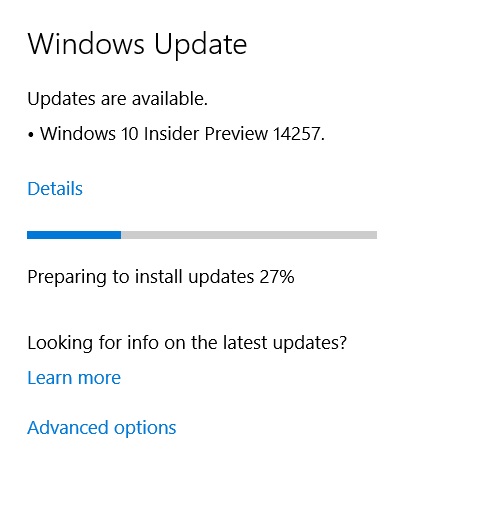 Update stuck Solved - Windows 10 Forums