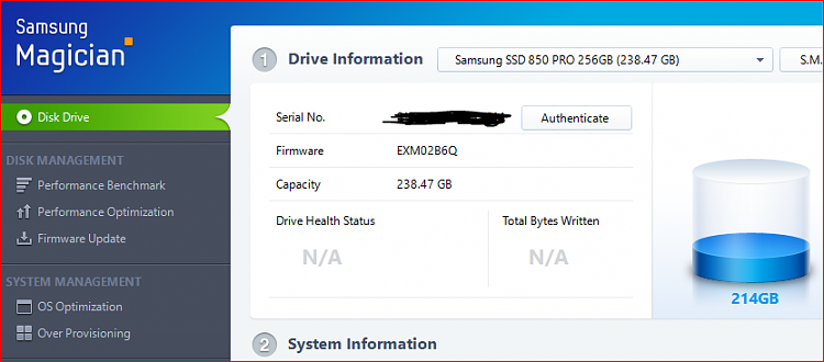 Samsung Magician 4.9.5 - Not Working Win10 build 12467-ssdcapture.png