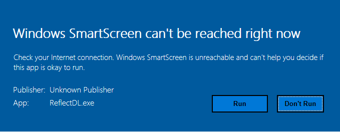 Click image for larger version.  Name:Windows SmartScreen.PNG Views:1 Size:14.2 KB ID:107428