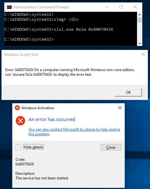 slmgr /upk access denied