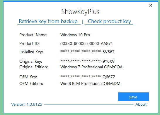 recover windows 7 product key from backup