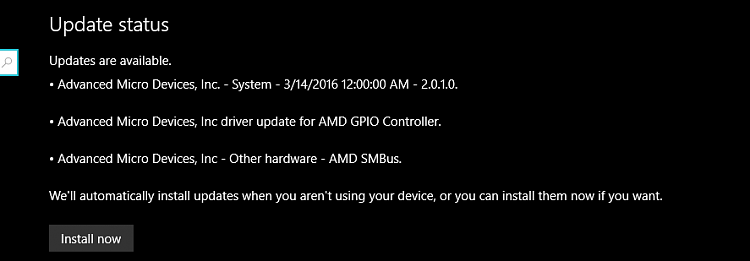 Same updates to AMD showing up - Windows 10 Forums