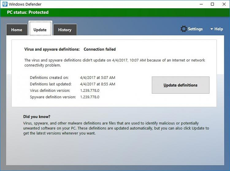 Click image for larger version.  Name:Windows Defender Broke.jpg Views:4 Size:98.1 KB ID:128203
