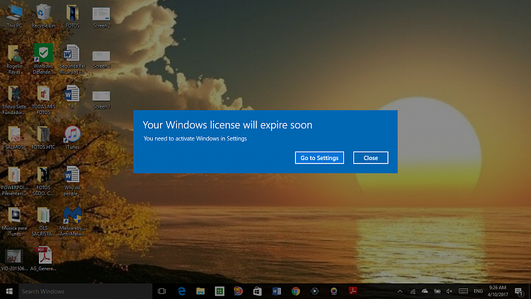 your windows licence will expire soon windows 10