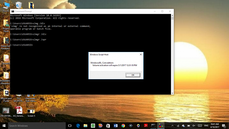Activation expiring soon error, windows reports as activated Solved