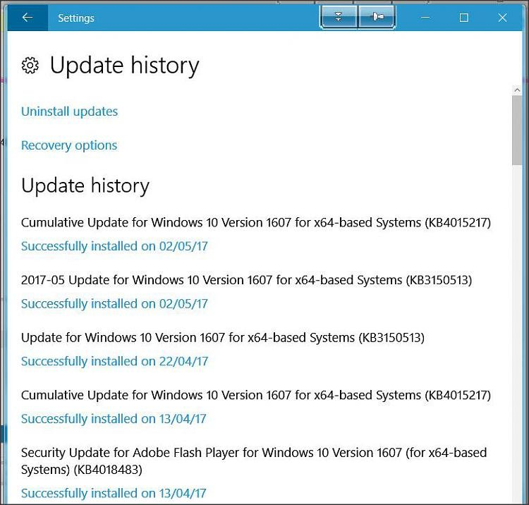 Why is KB4015438 offered by windows update and fail to