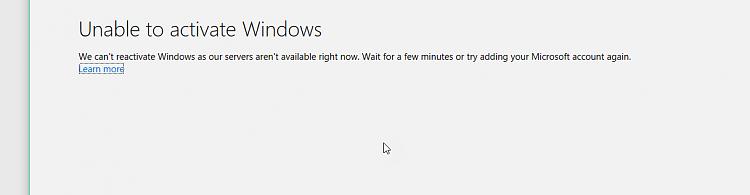 windows 10 activation server down