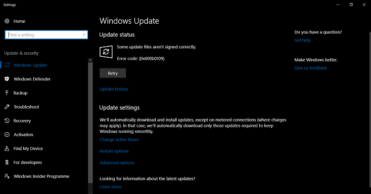 windows feature update keeps popping up