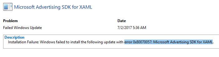 what is Microsoft advertising SDK for XAML update?-failed-xaml.jpg