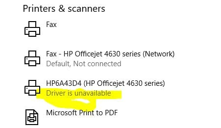 Windows Update KB4022725 breaks hp network printer driver