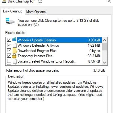 how to clean up games from windows 10