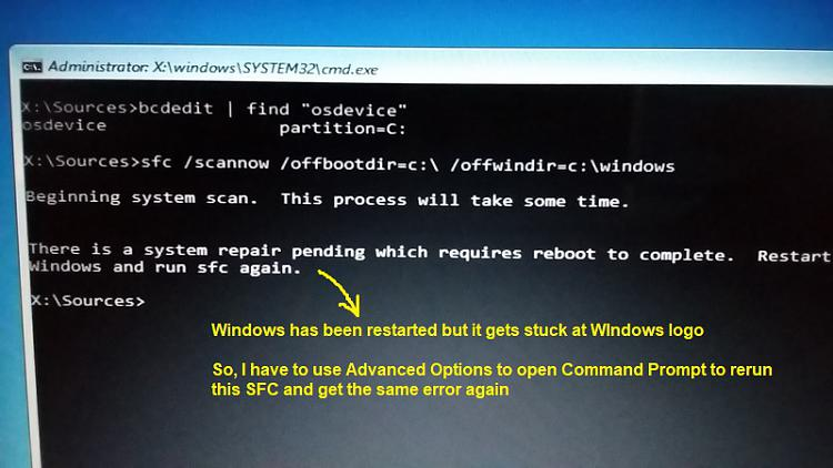 Windows can not start after update, here is SrtTrail txt Solved
