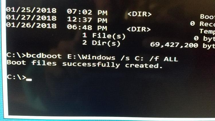 Boot loop after update no safe mode option-repair fails