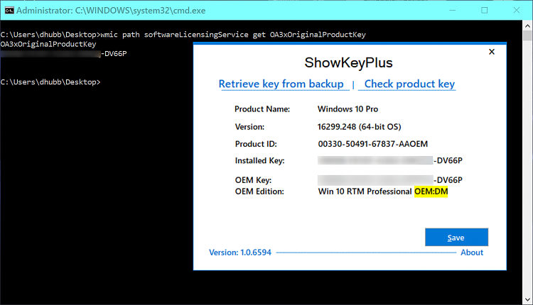 how to find my windows 10 product key on my computer