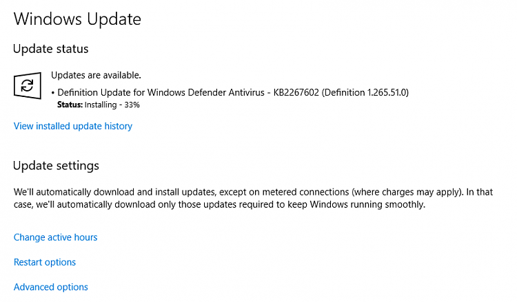 windows defender update wont download