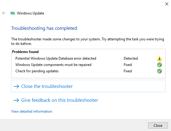 Windows 10 v 1803 failed to install in Windows Update_error