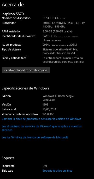 Clave para windows 10 home single language