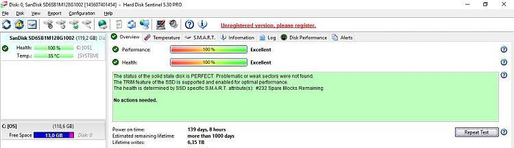 Click image for larger version.  Name:Hard Disk Sentinel.JPG Views:4 Size:80.0 KB ID:200164