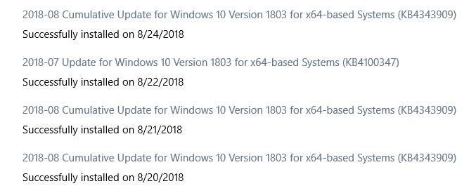 Windows Update keeps finding an already installed cumulative