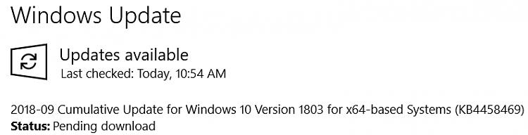 2018-09 Cumulative Update for Windows 10 Version 1803