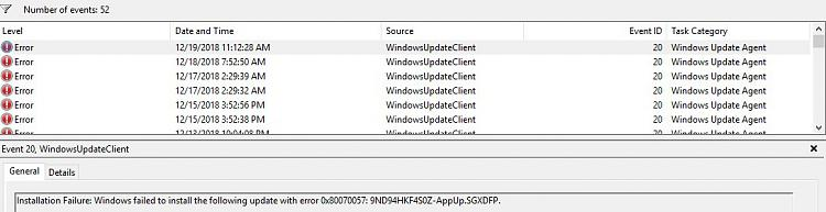 Windows update error - Windows 10 Forums